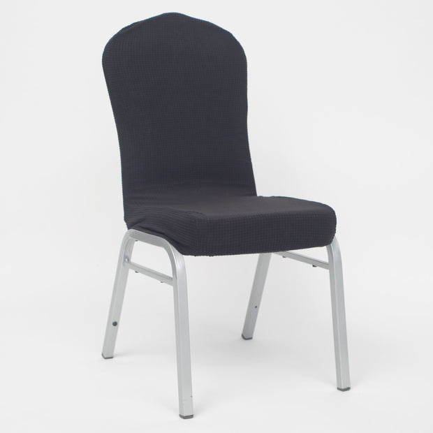 Lycra Chair Covers (Toppers) - Jacquard Charcoal