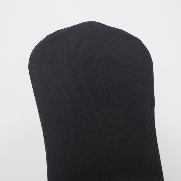 Lycra Chair Covers (Toppers) - Jacquard Charcoal Back