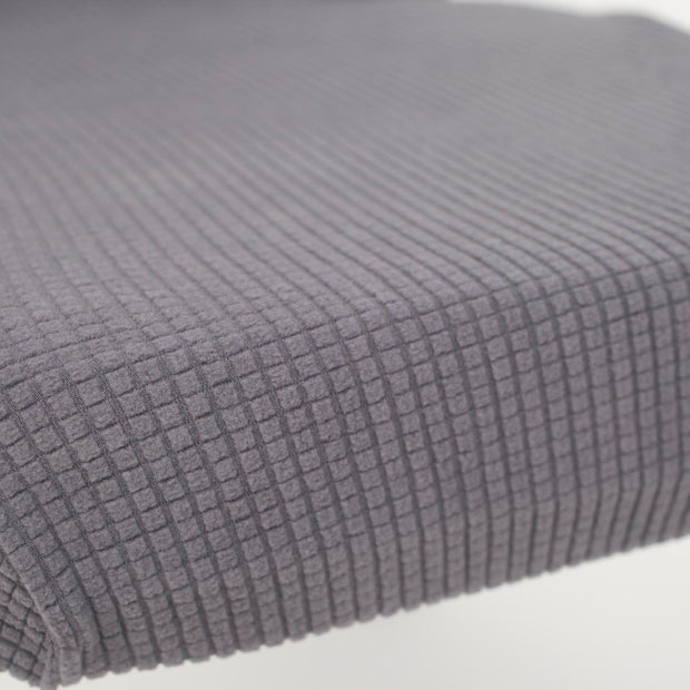 Lycra Chair Covers (Toppers) - Jacquard Dark Grey Close