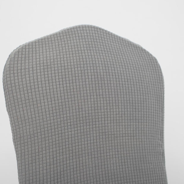 Lycra Chair Covers (Toppers) - Jacquard Silver Back