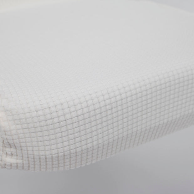 Lycra Chair Covers (Toppers) - Jacquard White Seat