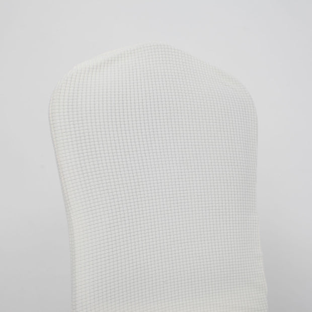 Lycra Chair Covers (Toppers) - Jacquard White Back