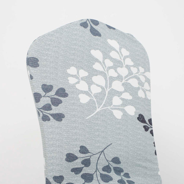 Lycra Chair Covers (Toppers) - Light Green With Leaf Pattern Back