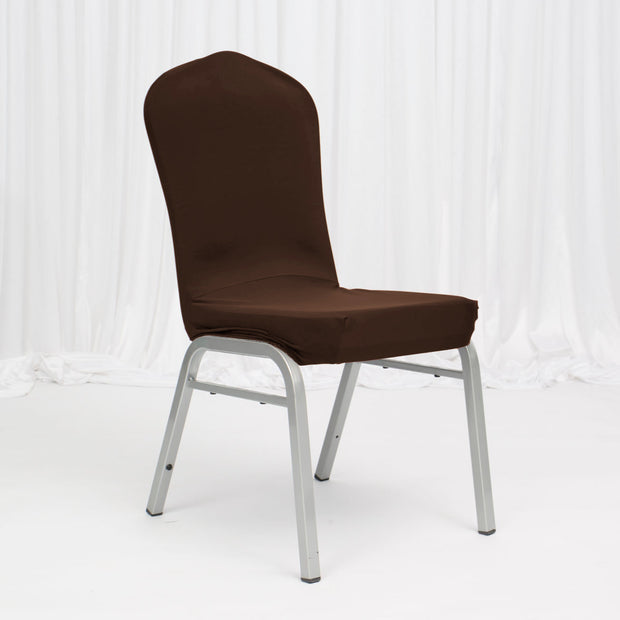 Lycra Chair Covers (Toppers) - Chocolate Brown Banquet chair
