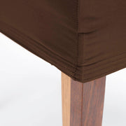 Lycra Chair Covers (Toppers) - Chocolate Brown Hem detail
