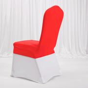 Lycra Chair Covers (Toppers) - Bright Red On Banquet Chair