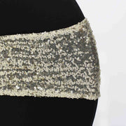 Champagne Sequin Lycra Chair Band Sparkle Stretch