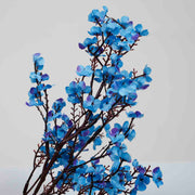 4 x Small Cherry Blossom Branches - Blue (50cm) Close