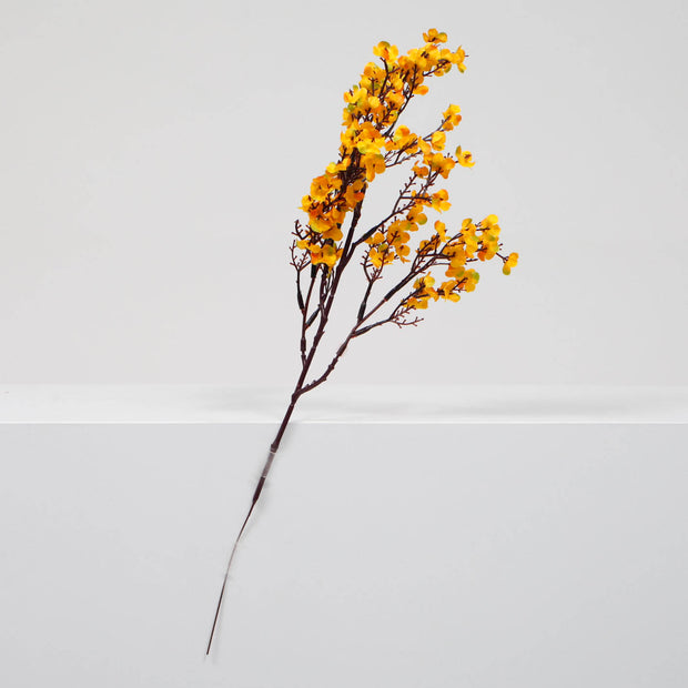 4 x Small Cherry Blossom Branches - Orange (50cm)