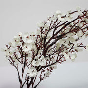 4 x Small Cherry Blossom Branches - White (50cm) Close