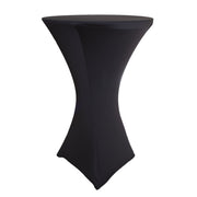 Cocktail Dry Bar Covers - Black (Square Base, 70cm)