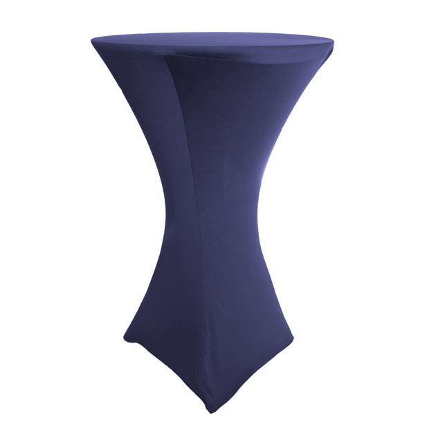 Dry Bar Lycra Tablecloth for a Cocktail Table with a Square Base in Navy Blue