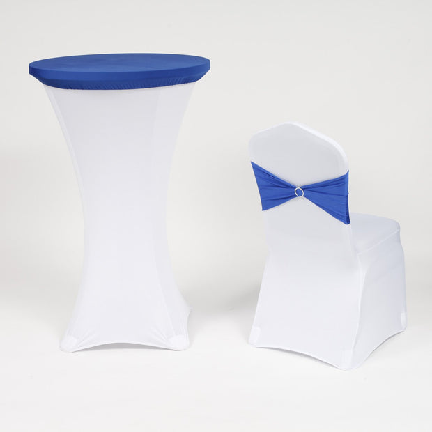 Spandex Blue and white Cocktail Table Cover and Chair Cover