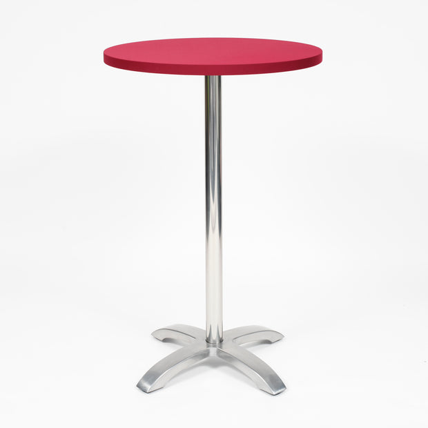 Burgundy Spandex Cocktail Table Cover