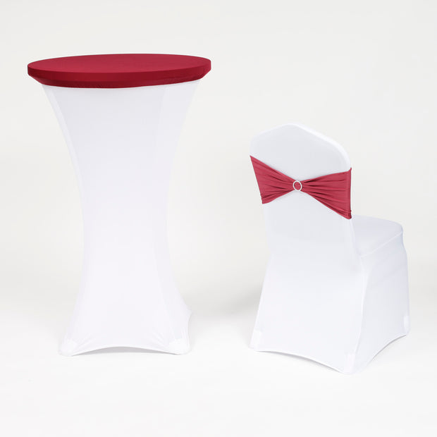Cocktail Table Covers - Burgundy (70cm Toppers)