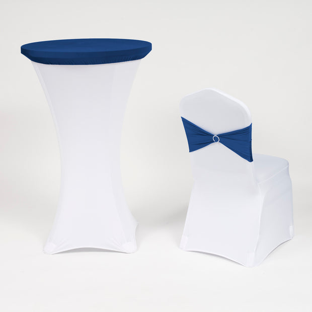 Cocktail Dry Bar Table Covers - Navy Blue (70cm Topper) With Lycra band