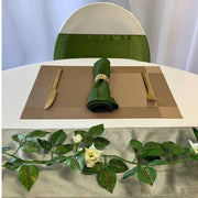 Christmas bronze and olive green table setting