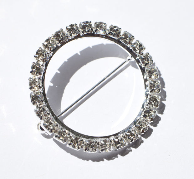 diamante silver buckle decoration for Wedding Chair Sashes