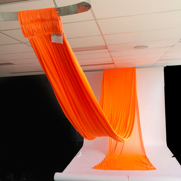 Ceiling Drape Ice Silk - Black - 10m View Of Length