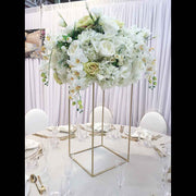 Gold Iron Flower Stand Centrepiece Example 1