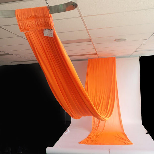 Ceiling Drape Ice Silk - Blush - 10m View Of Length