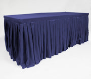Navy Fitted Tablecloth with Pleated Table Skirting for 6ft Trestle Tables