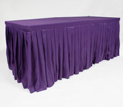 Purple Fitted Tablecloth with Pleated Table Skirting for 6ft Trestle Tables