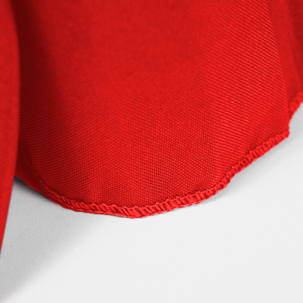 Red Fitted Tablecloth with Pleated Table Skirting for 6ft Trestle Tables Overlocked edge