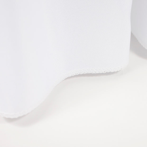 White Fitted Tablecloth with Pleated Table Skirting for 6ft Trestle Tables Stitching
