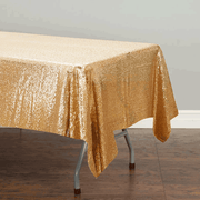 Antique Gold Sequin Tablecloth 125x240cm