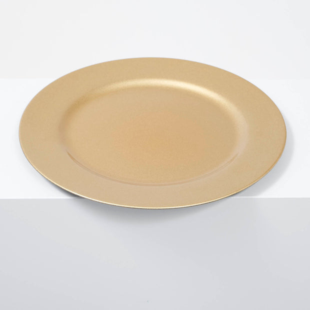 25 piece Glitter Gold Charger Plate Set - 33cm