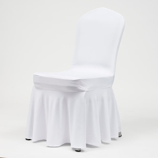 Princess White Lycra Chair Covers (190gsm)
