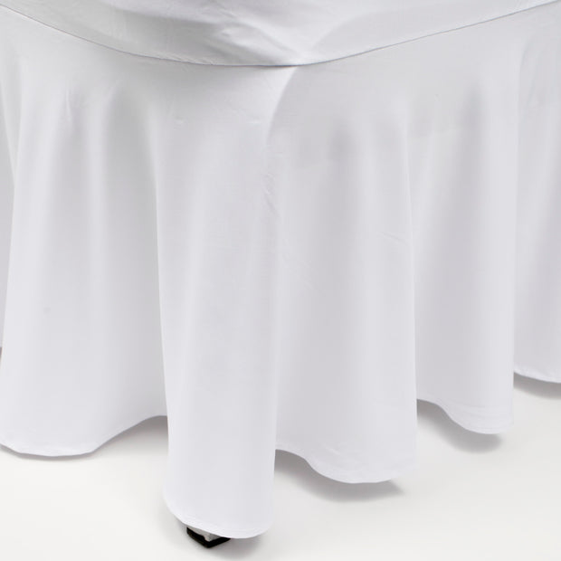 Princess White Lycra Chair Covers (190gsm) Skirt