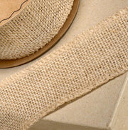 Hessian Roll / Ribbon - 5cm x 10m roll Close Up