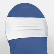 Lycra Chair Bands - Metallic Holographic Front