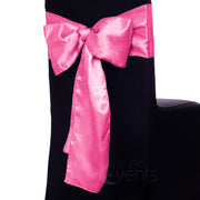 Satin Chair Sashes - Hot Pink