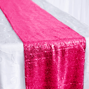 Sequin Table Runner - Hot Pink