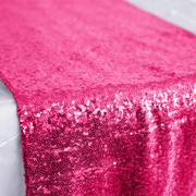 Sequin Table Runner - Hot Pink Close Up