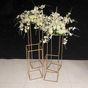 Gold Iron Flower Stand Centrepiece Example 2