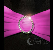 Lycra Chair Bands Shimmer - Hot Pink