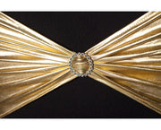 Lycra Chair Bands detail - Metallic Gold
