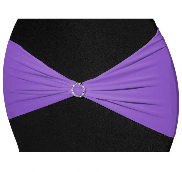 Lycra Chair Bands - Purple