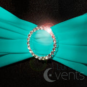 Lycra Chair Bands detail - Teal