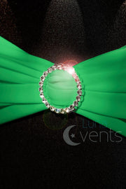 Lycra Chair Bands detail - Green