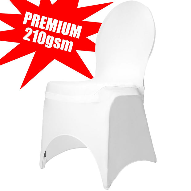 Premium White Lycra Wedding Chair Cover