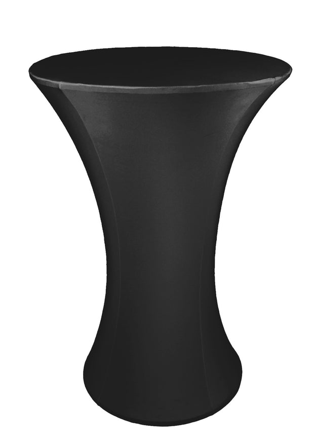 Cocktail Dry Bar Covers - Black (Round Base, 70cm)