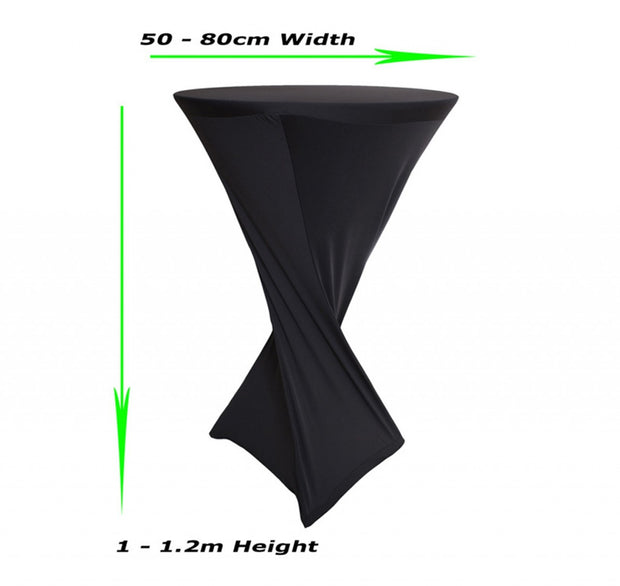 Shop Black Cocktail Covers (Square Base) Measurements
