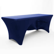 Navy 3 Sided Lycra Fitted Tablecloth (6ft)