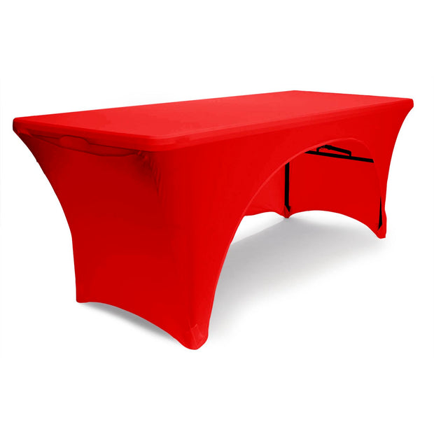 Red 3 Sided Lycra Fitted Tablecloth (6ft)
