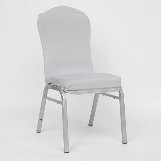 Lycra Chair Covers (Toppers) - Silver